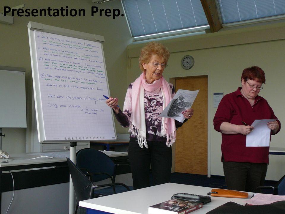 Presentation Prep.