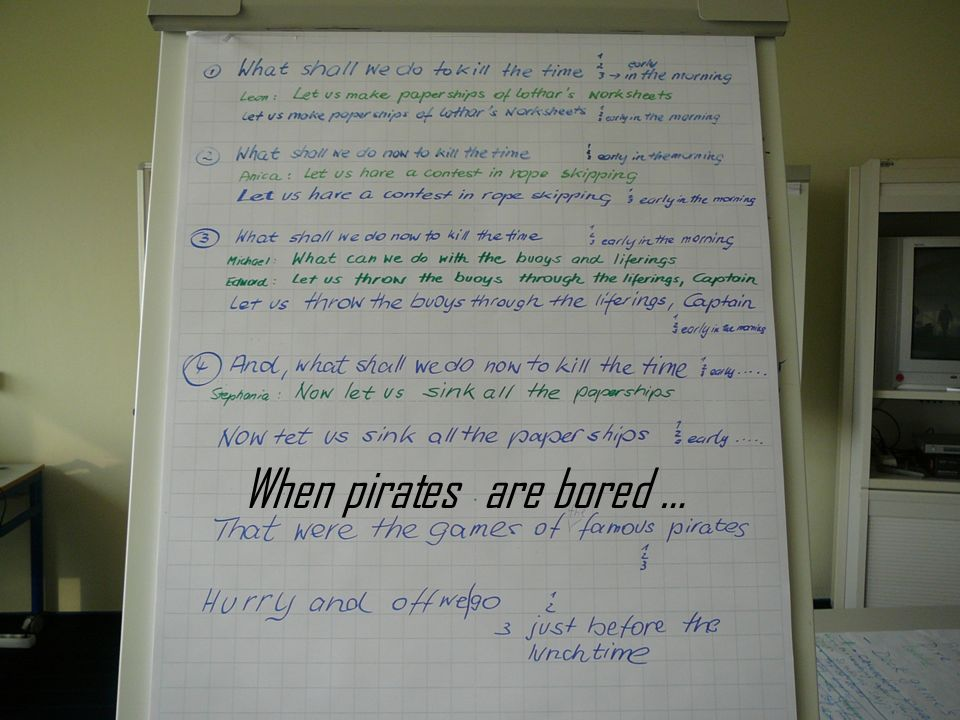 When pirates are bored …