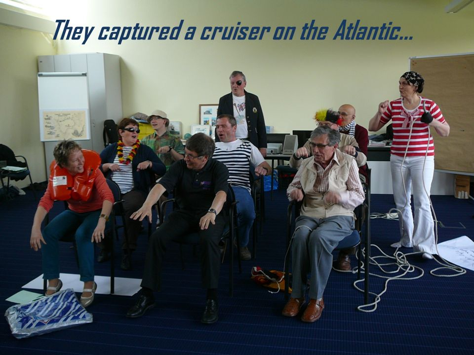They captured a cruiser on the Atlantic…