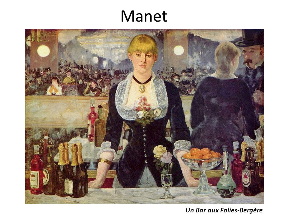 Manet Un Bar aux Folies-Bergère