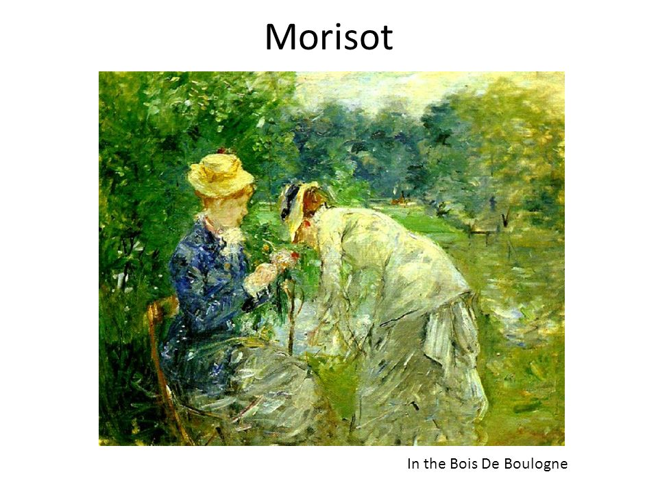 Morisot In the Bois De Boulogne