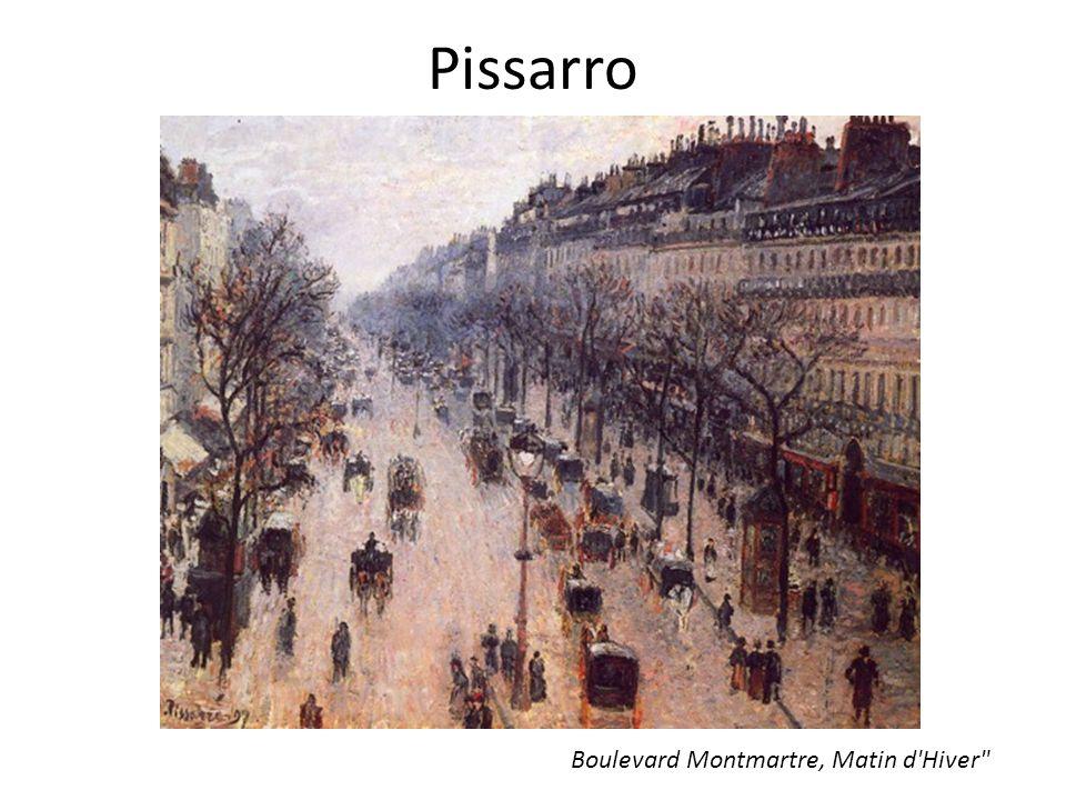 Pissarro Boulevard Montmartre, Matin d'Hiver
