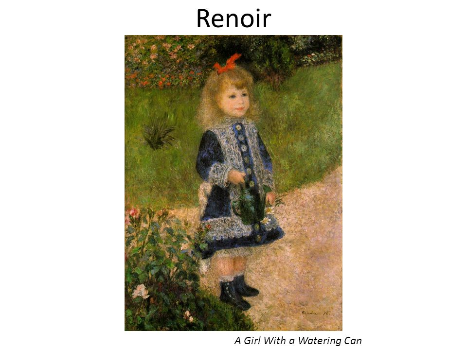 Renoir A Girl With a Watering Can