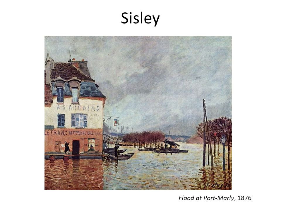 Sisley Flood at Port-Marly, 1876