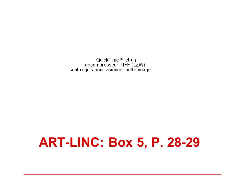 ART-LINC: Box 5, P. 28-29