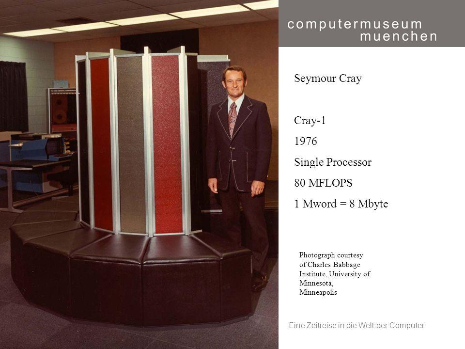 Eine Zeitreise in die Welt der Computer.20 Photograph courtesy of Charles Babbage Institute, University of Minnesota, Minneapolis Seymour Cray Cray-1