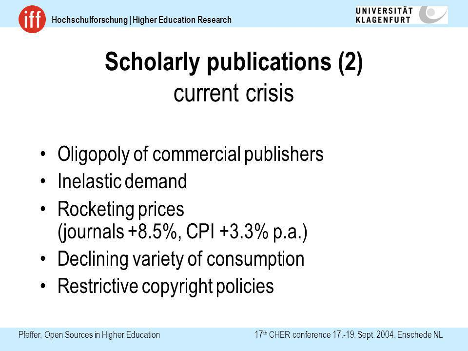 Hochschulforschung | Higher Education Research Pfeffer, Open Sources in Higher Education 17 th CHER conference 17.-19.