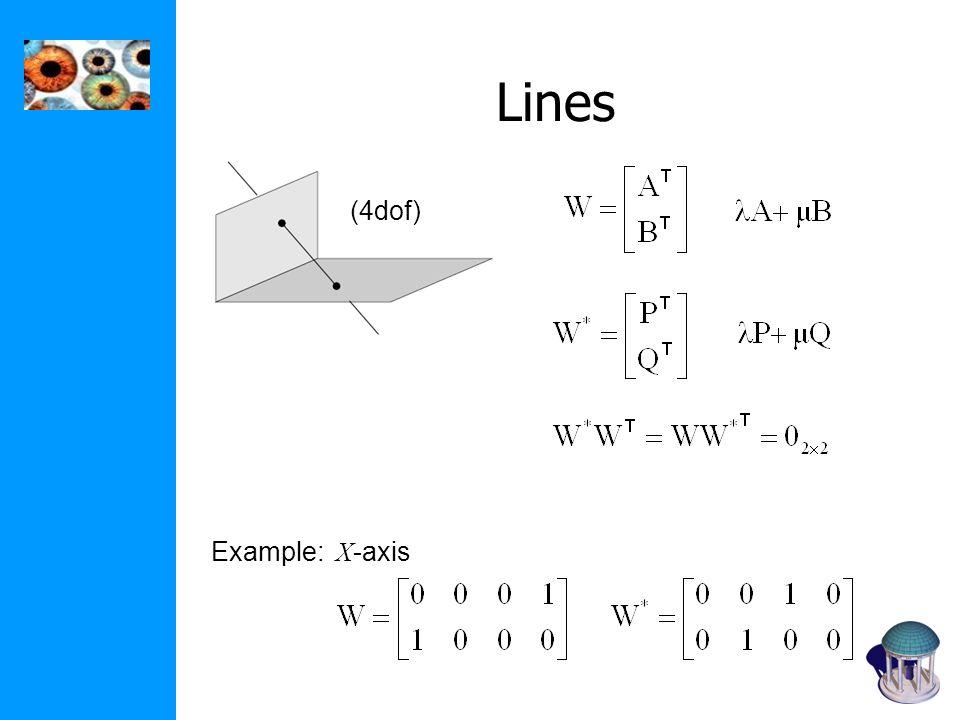 Lines Example: X -axis (4dof)