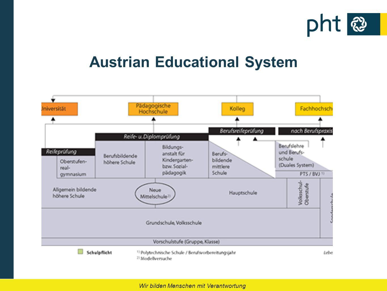 Wir bilden Menschen mit Verantwortung Austrian Educational System