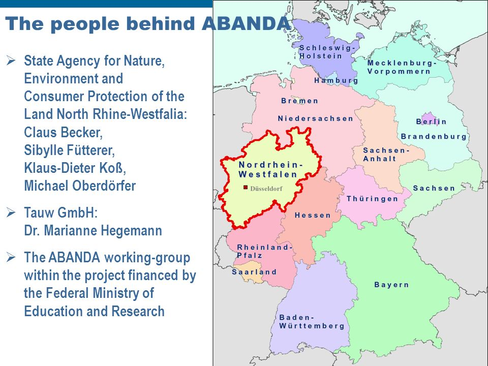 Dr. Michael Oberdörfer Chania 1 st – 3 rd October 2008 International Conference on Hazardous Waste Management The people behind ABANDA State Agency fo