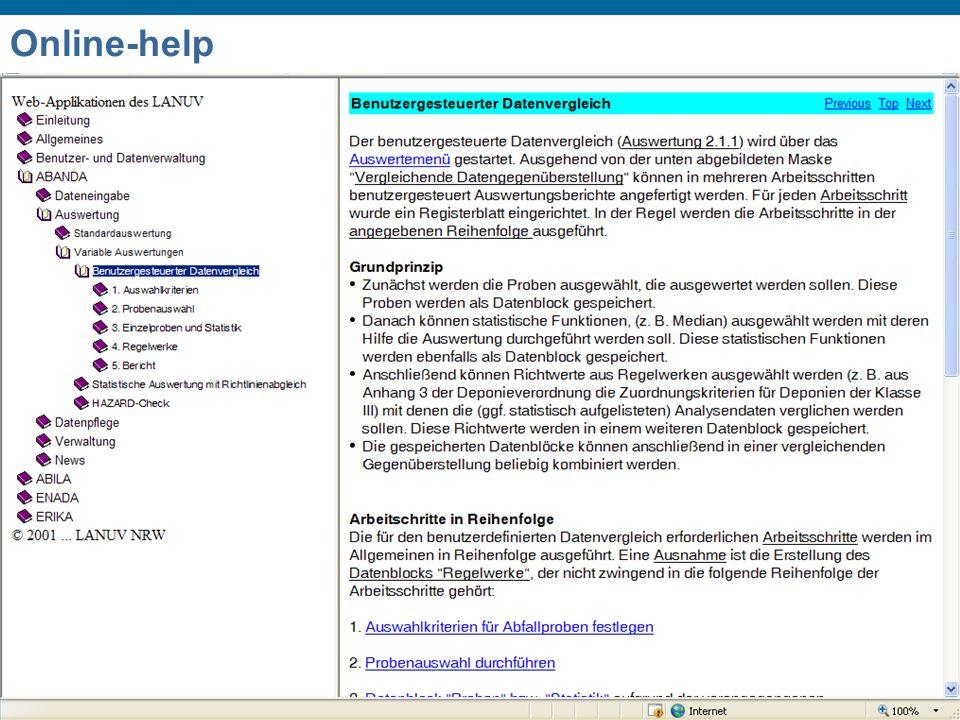 Dr. Michael Oberdörfer Chania 1 st – 3 rd October 2008 International Conference on Hazardous Waste Management Online-help