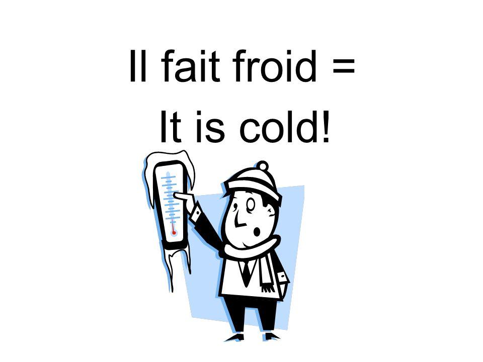 Il fait froid = It is cold!
