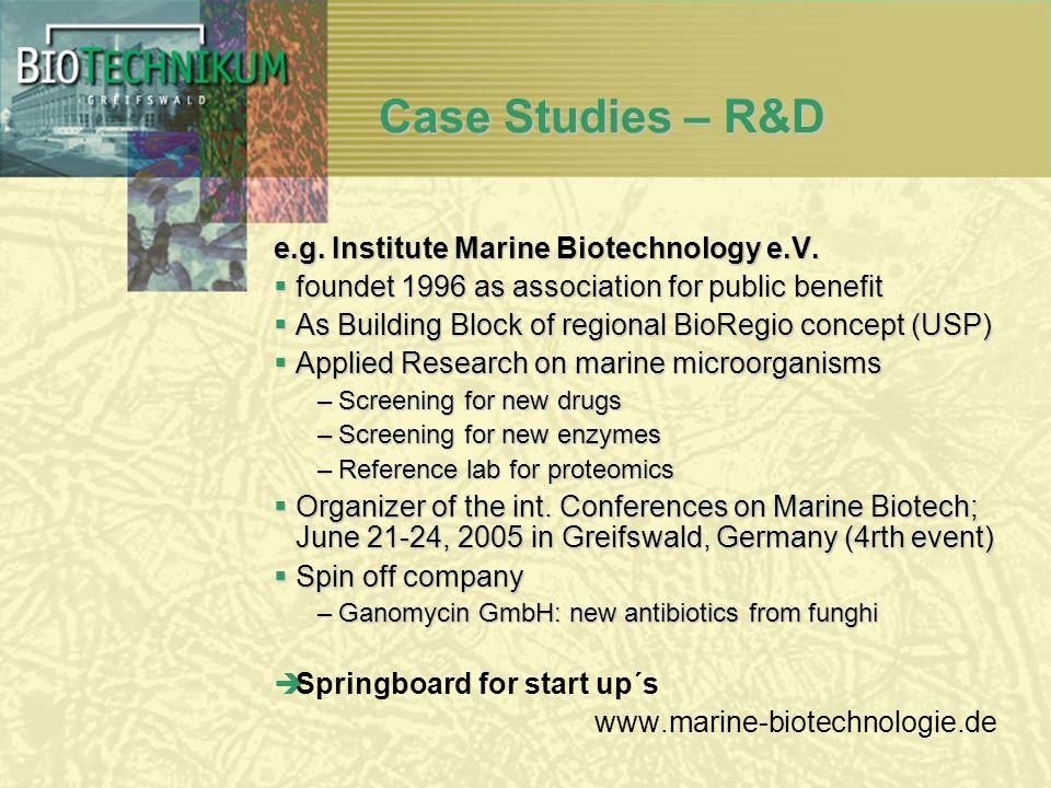 Case Studies – R&D e.g. Institute Marine Biotechnology e.V.