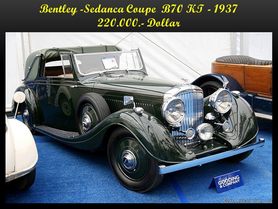 Bentley - Sedanca Coupe - 1937