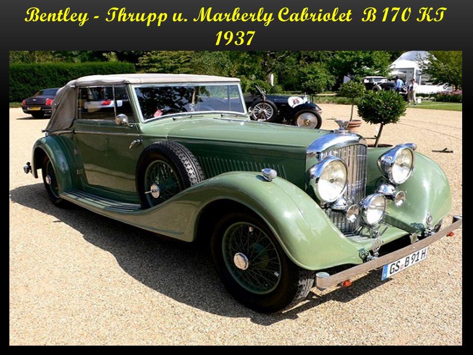 Bentley -Sedanca Coupe B70 KT - 1937 220.000.- Dollar