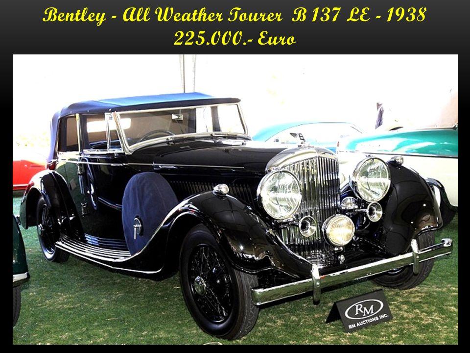 Bentley - Thrupp u. Marberly Cabriolet B 170 KT 1937