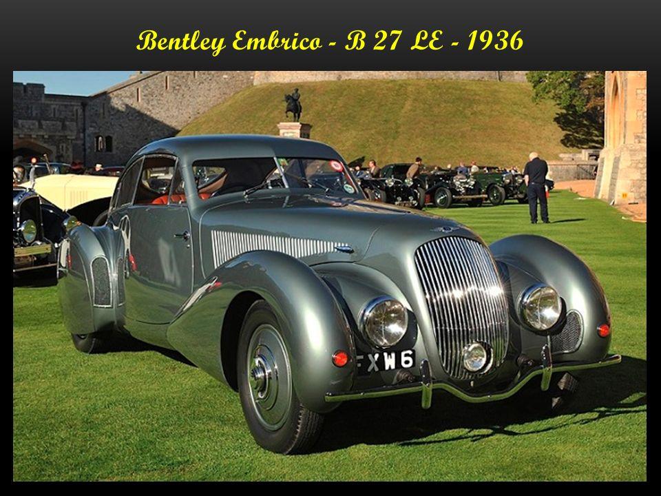 Bentley - Supercharged - 1936