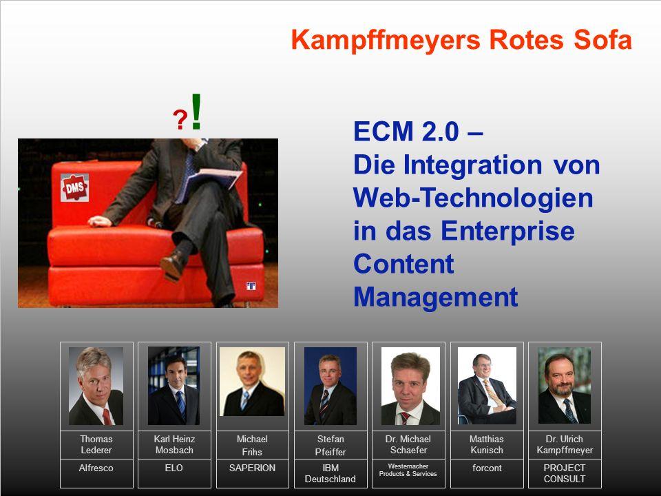 Dr. Ulrich Kampffmeyer PROJECT CONSULT Stefan Pfeiffer IBM Deutschland Dr.