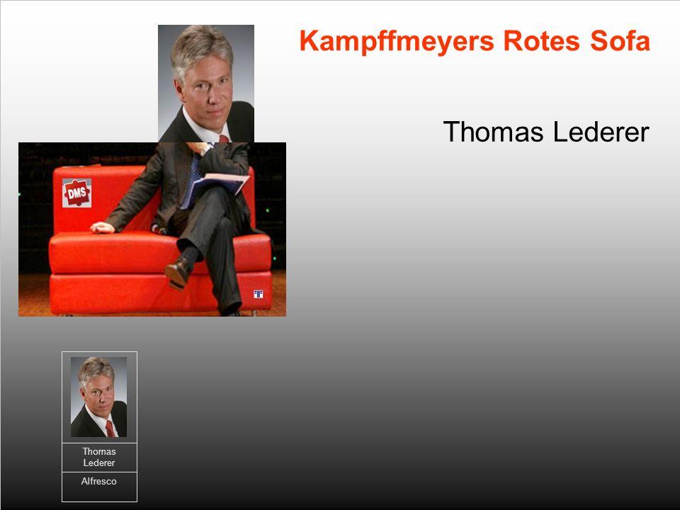 Thomas Lederer Kampffmeyers Rotes Sofa Thomas Lederer Alfresco
