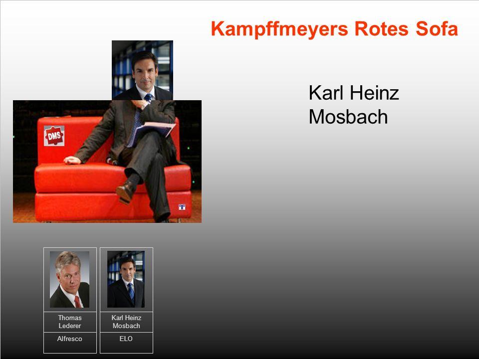 Karl Heinz Mosbach Kampffmeyers Rotes Sofa Thomas Lederer Alfresco Karl Heinz Mosbach ELO
