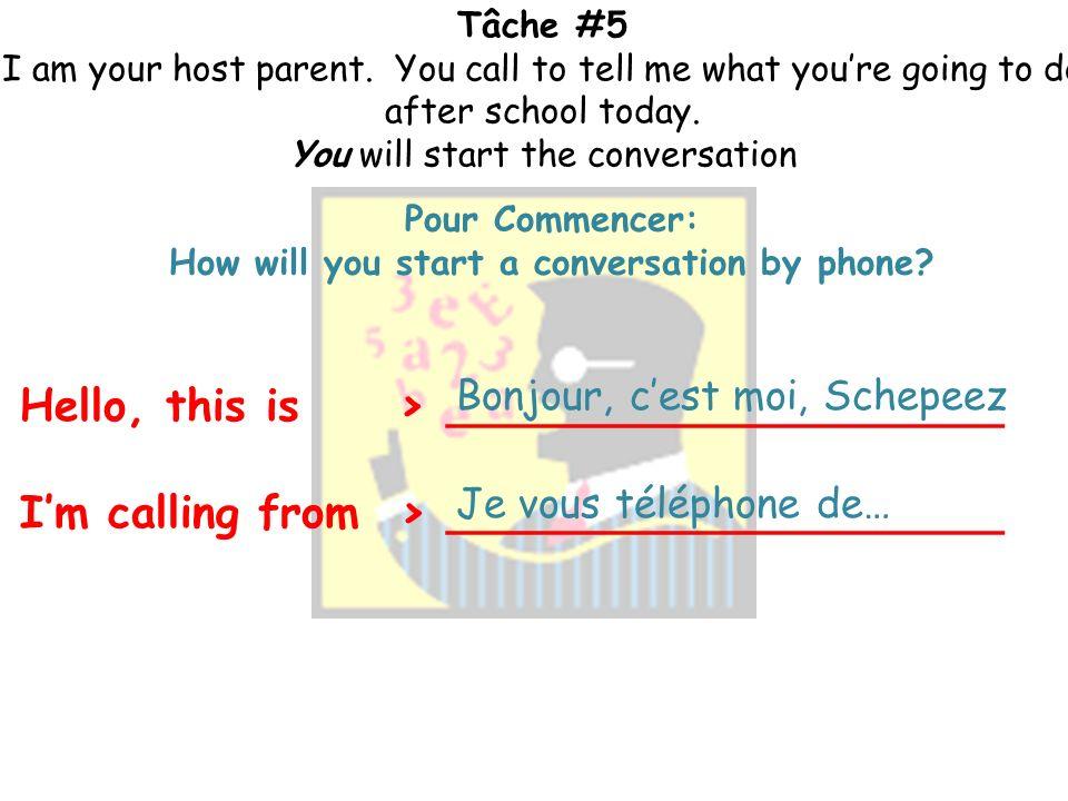 Tâche #5 I am your host parent.