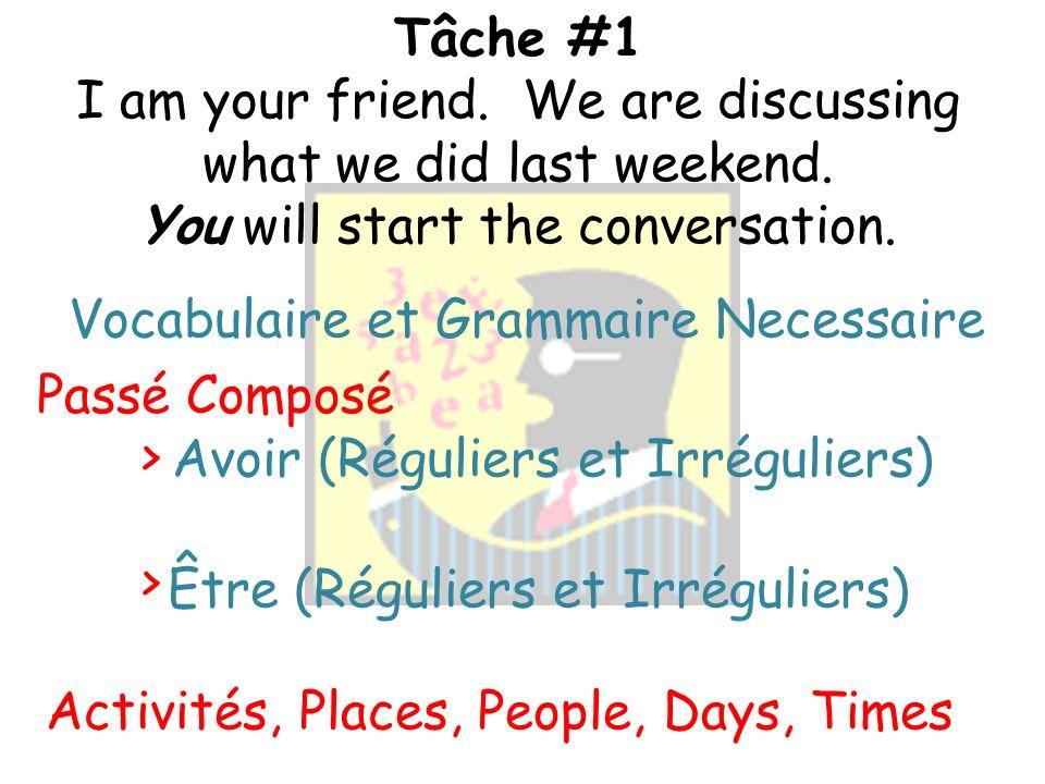 Information Générale Choissis UNE fiche On fait une conversation de CINQ échanges en français.