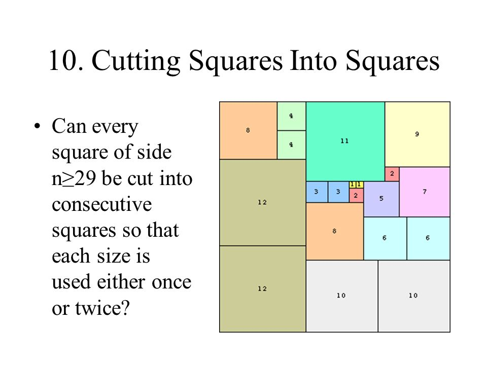 If we tile a square with distinct squares, are there always at least two squares with only four neighbors.