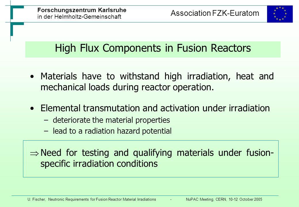Forschungszentrum Karlsruhe in der Helmholtz-Gemeinschaft Association FZK-Euratom U.