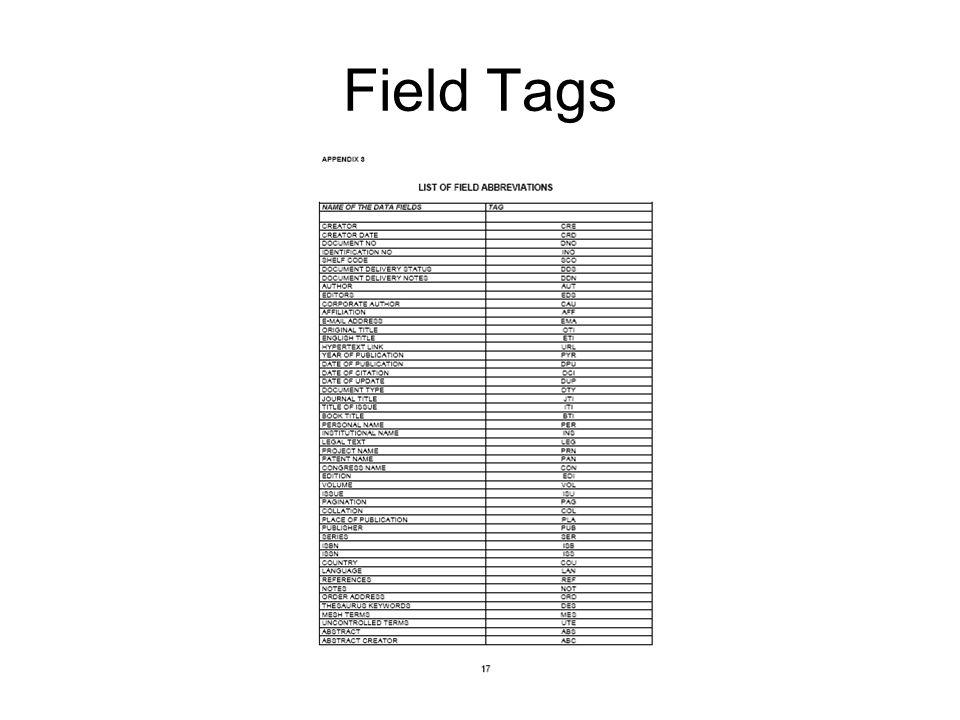 Field Tags