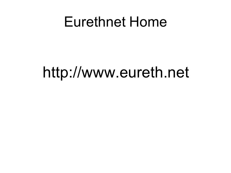 Eurethnet Home http://www.eureth.net