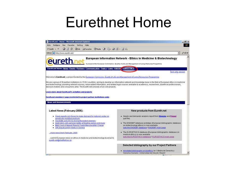 Eurethnet Home