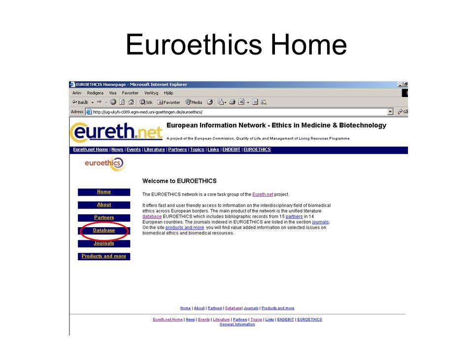 Euroethics Home
