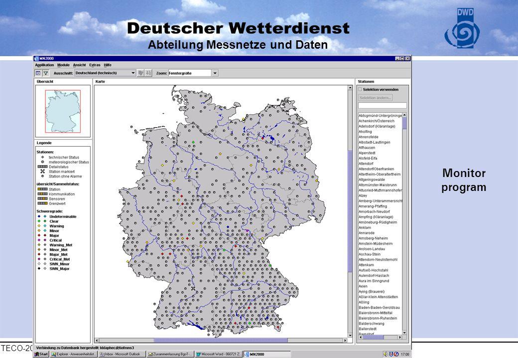 TECO-2006, 4 dec 2006, Geneva Abteilung Messnetze und Daten Monitor program