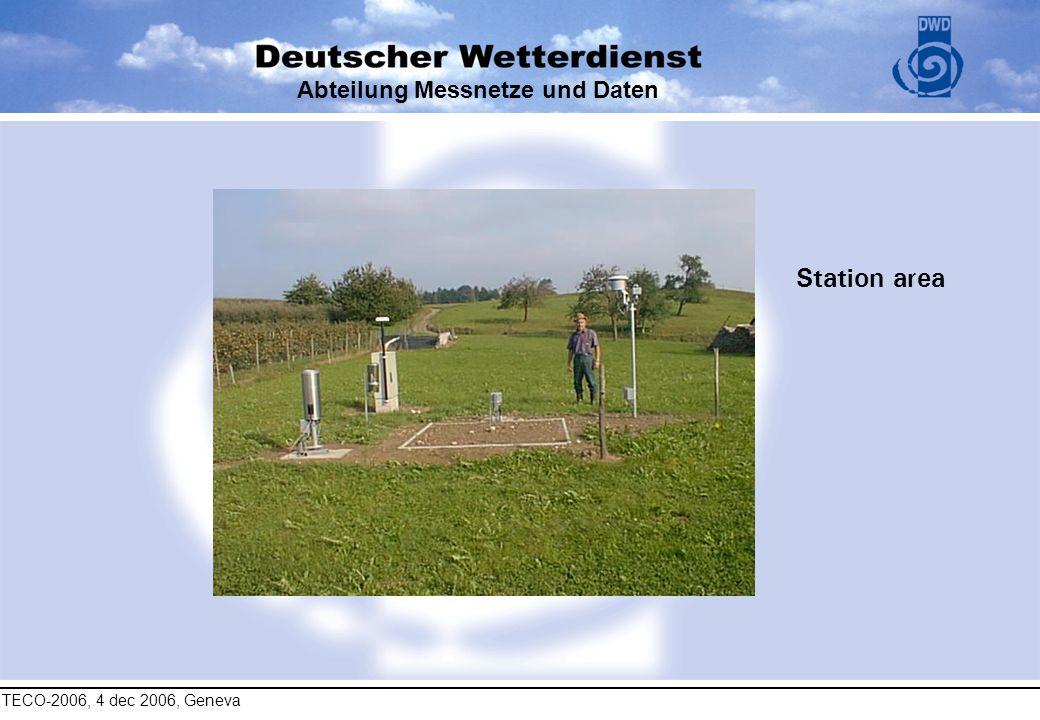 TECO-2006, 4 dec 2006, Geneva Abteilung Messnetze und Daten Station area