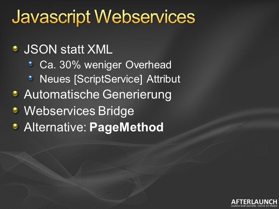 JSON statt XML Ca.