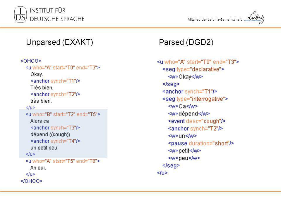 Unparsed (EXAKT)Parsed (DGD2)