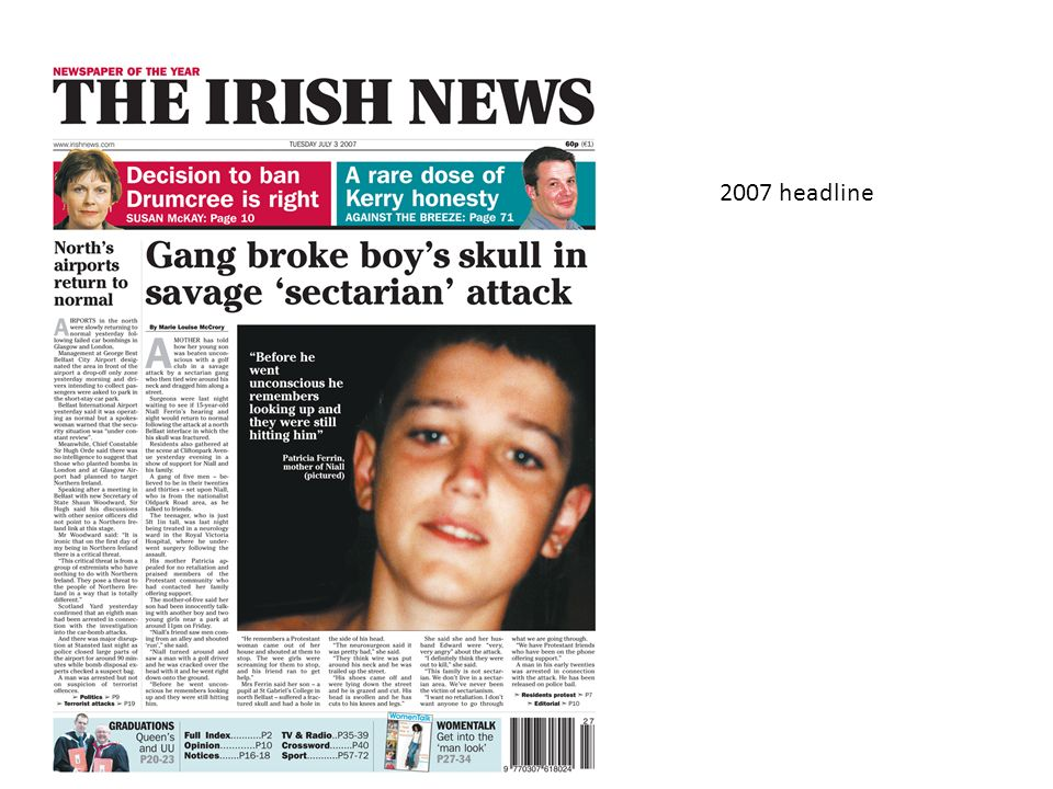 2007 headline