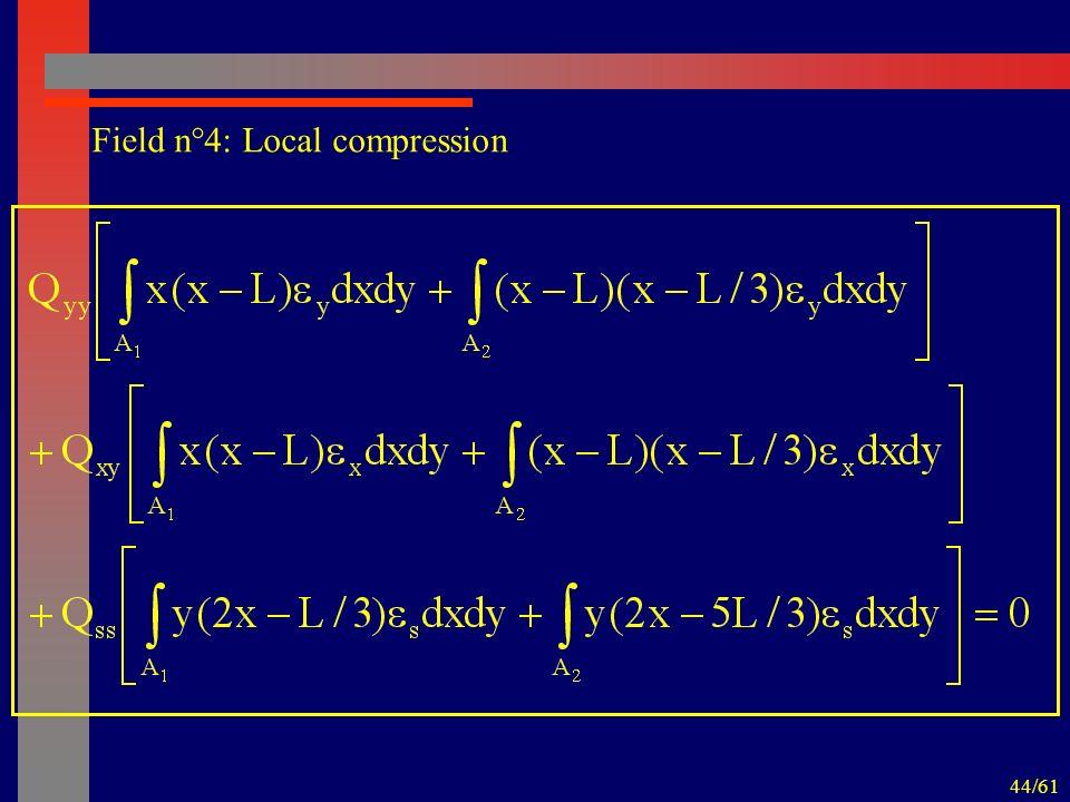 44/61 Field n°4: Local compression