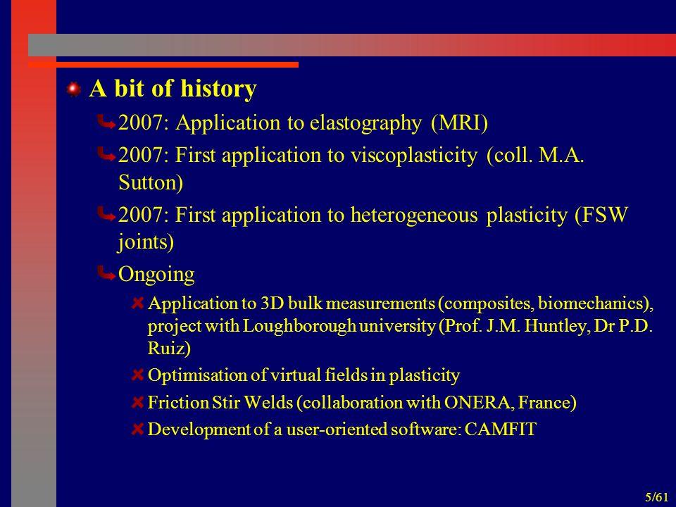 56/61 Reference* (GPa) 104043 Identification results Identified (GPa) 11.444.46.83.87 Coeff.