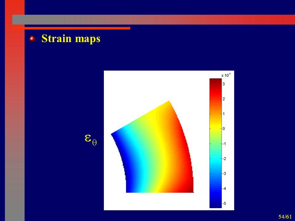 54/61 Strain maps