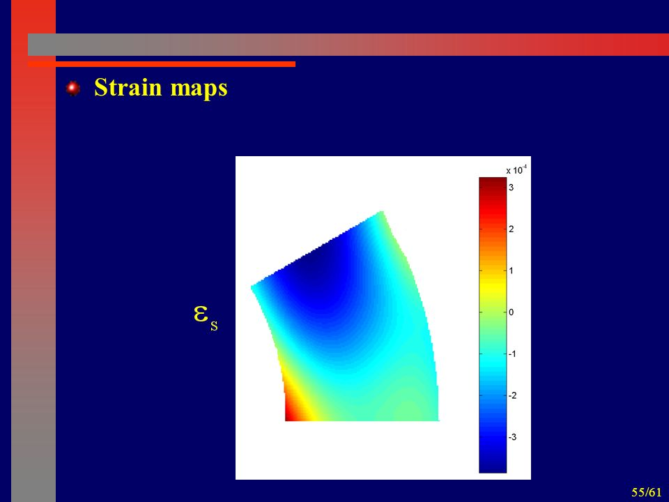 55/61 Strain maps