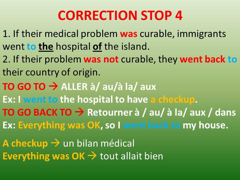 CORRECTION STOP 4 1.