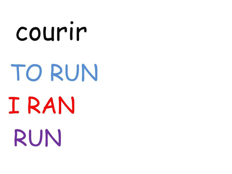 courir TO RUN I RAN RUN