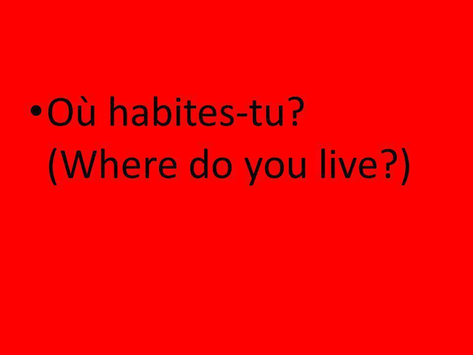 Où habites-tu? (Where do you live?)