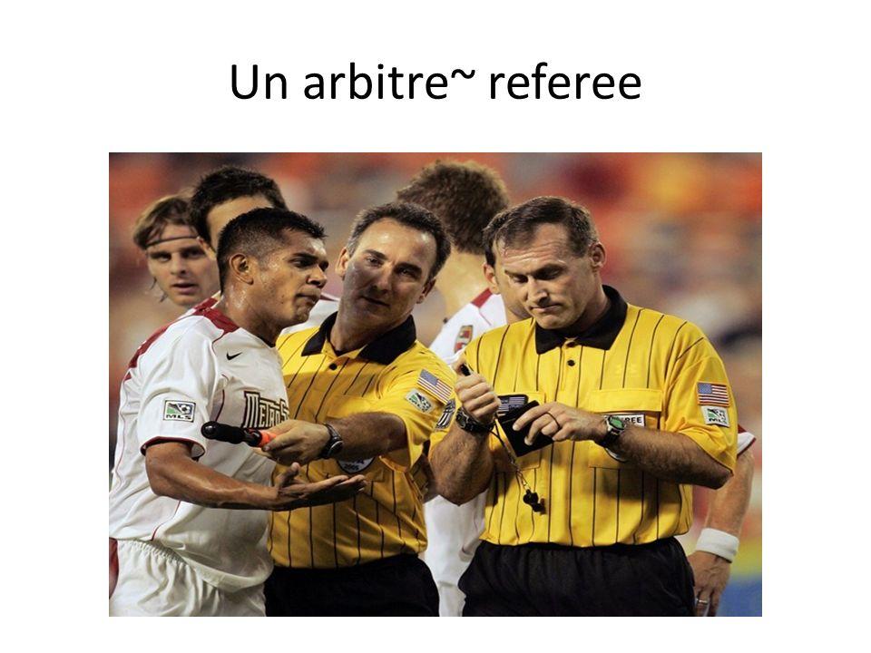Un arbitre~ referee
