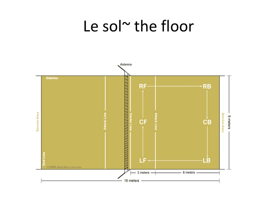 Le sol~ the floor