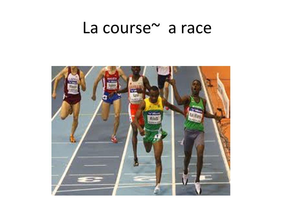 La course~ a race