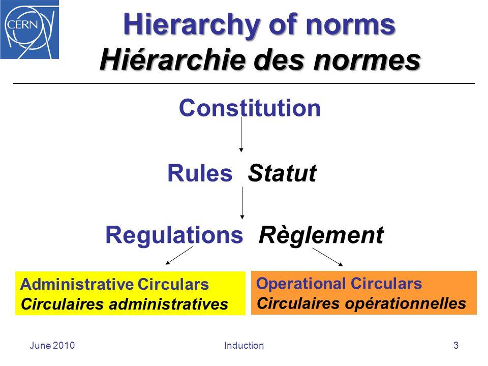 Staff Rules Statut du Personnel June 2010Induction4