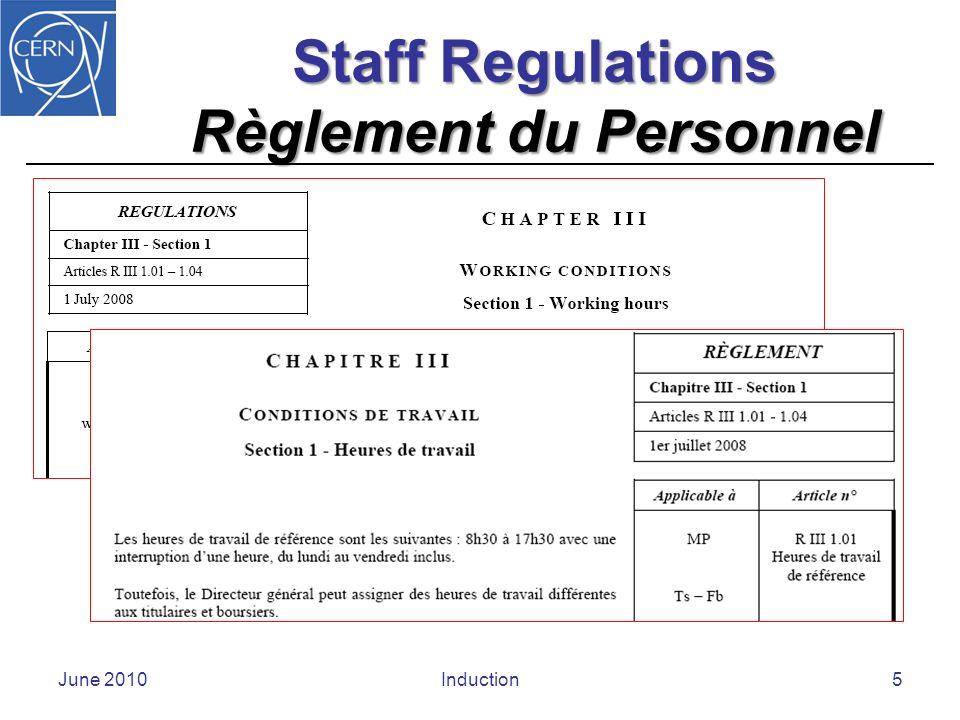 Administrative Circular Circulaire administrative June 2010Induction6