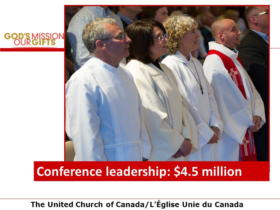 The United Church of Canada/LÉglise Unie du Canada Conference leadership: $4.5 million